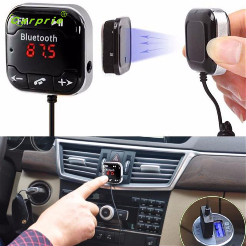Auto car-styling car styling Car Kit Wireless Bluetooth FM Transmitter MP3 Player USB SD LCD Remote Handsfree mar07 1 1 lcd car mp3 player fm transmitter w usb sd tf remote controller black blue