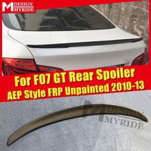 For BMW F07 GT Spoiler P Style Black Real FRP Unpainted Wings 5-series 535i 535iGT 535iGTXD 550GT Trunk 2010-13