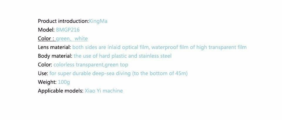 KingMa מקורי Xiaomi יי מקרה עמיד למים, מי יי פעולה המצלמה 40M צלילה ספורט עמיד למים קופסא, Xiaomi יי אביזרים Aksesoris