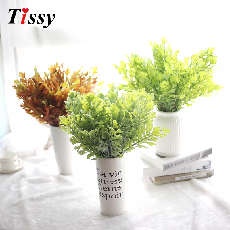 New!Grass Leaves Plastic Artificial Grass Leaf Plant DIY Home&Garden Wedding Party Decoration Craft Art Home Bedroom Decor