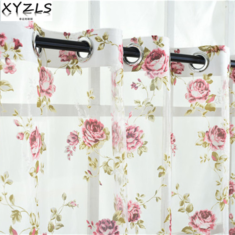 XYZLS Hot Sale Burnout Sheer Curtain Tulle Curtain For