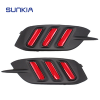 SUNKIA New Car Rear Fog Light Lamp Car Styling Specific For Honda 10th Civic 2016 2017 2018 12V DC Red Color Brake Light