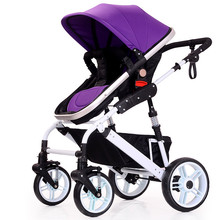 Baby Stroller Bekerhouder Pushchair Lightweight Infant Stroller Prams 3 In 1 Folding Umbrella Carrinho De Bebe Purple Red Blue