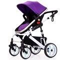 Cochecito de bebé Cochecito Ligero Bekerhouder Infantil Cochecitos Cochecito 3 En 1 Plegable Paraguas Carrinho de Bebe Rojo Púrpura Azul