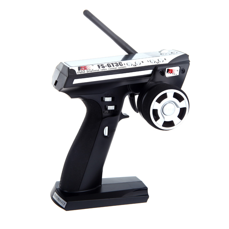 ФОТО Flysky FS-GT3C FS GT3C 2.4G 3CH Gun RC Transmitter & Receiver W/ TX battery + USB Cable Up FS-GT3B
