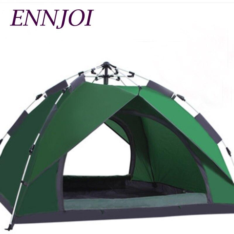 Tente de Camping en plein air en Polyester Portable automatique tente de plage Pop Up tente randonnée sac à dos tente abri solaire 4 saisons