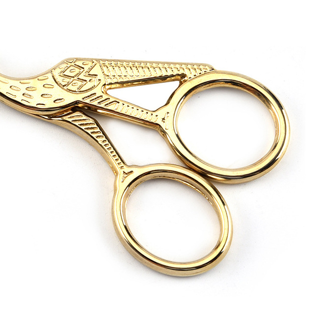 1Pc Tailor's Scissors Sewing Scissors for Needlework Gold Silver Antique Vintage Heron Shaped Stainless Steel Sewing Scissor DIY 2