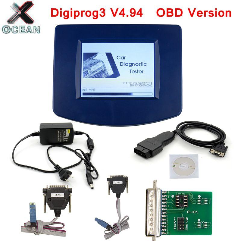 Digiprog III V4.94 Digiprog 3 FTDI Chip FT232BL A + + OBD Version ST01 ST04 câble odomètre correction outil Digiprog3 Changement mileag