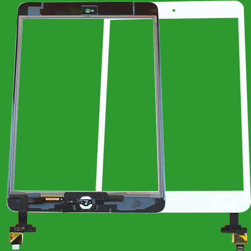 NEW Touch Screen Digitizer For iPad Mini 2 A1489 A1490 A1491 TP IC with Home Button and Adhesive Front Glass Replacement white replacement for apple ipad 3 ipad 4 touch screen digitizer front glass with free tools free shipping