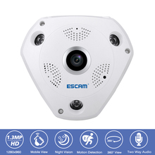 360 Degree Panoramic Surveillance CCTV Security Camera 1.3MP 960P Wifi IP Camera Two Way Audio Night Vision Fisheye VR Camera
