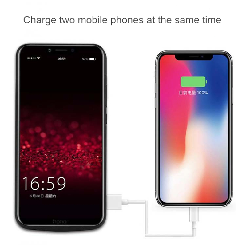 NTSPACE Extended Phone Battery Power Case 5000mAh Portable Battery Charger Case For Huawei Honor Play Power Bank Charging Cover in Battery Charger Cases from Cellphones Telecommunications