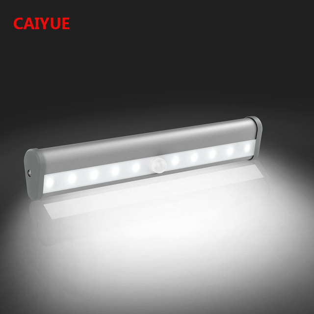 LED Night Light Motion Sensor Closet Lights Cabinet Light DIY Stick On  Anywhere Wardrobe Stairs