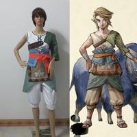 THE LEGEND OF ZELDA 2 Cosplay Costume Zelda II The Adventure of Link Custom Made Free Shipping