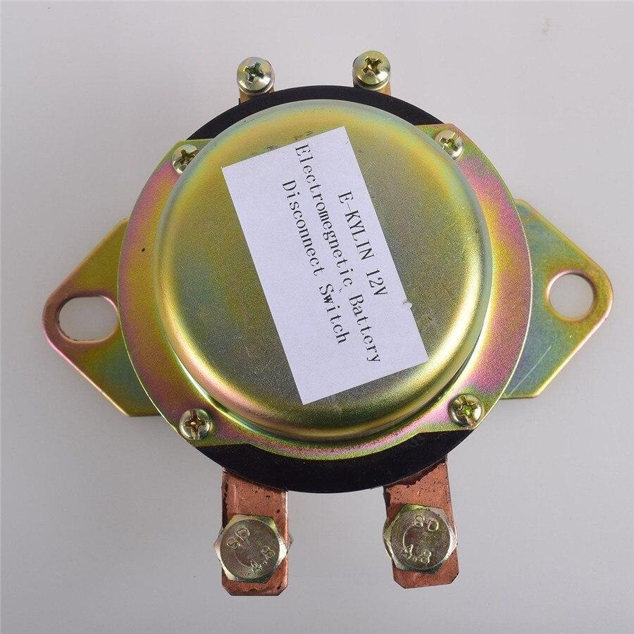 Universel DC12V voiture Auto batterie interrupteur électromagnétique déconnexion maître tuer bouton de tiret