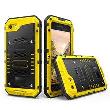 Metal Aluminum Armor Dustproof Shockproof WaterProof Case Cover For iPhone 5/6/7/8