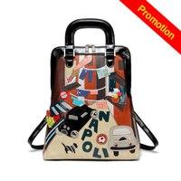 Myvision Large Capacity Leather Women Backpack Double Shoulder Bag Designer School Backpacks Laptop Cat Backpack For Girl Travel
