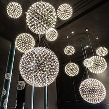 Moooi Raimond firework light Stainless Steel Ball led pendant lamp Modern Creative firework pendant light