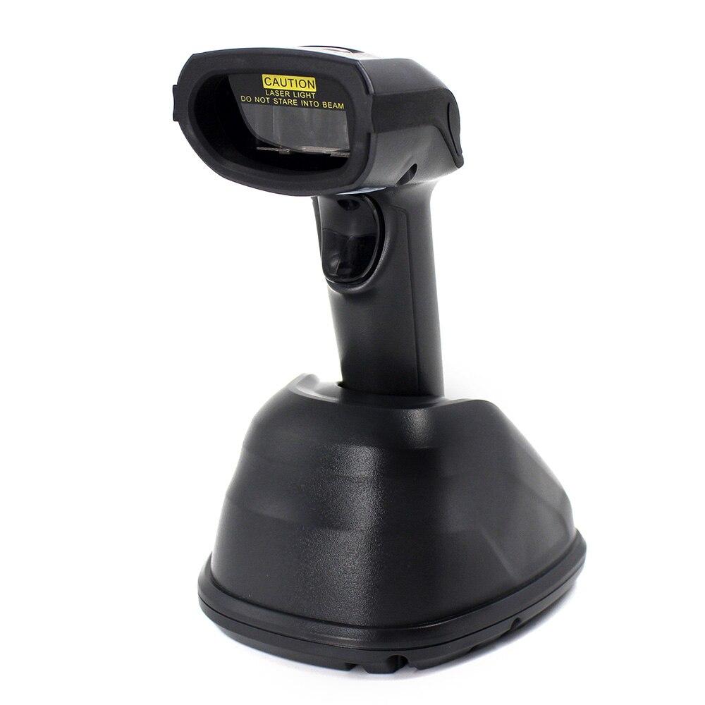 Lecteur de codes à barres sans fil 1D, lecteur de codes à barres Laser Symcode 433 MHZ Station de Charge Distance de transmission sans fil 300-400 mètres