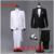Custom made Mens Preto Branco Ternos Calças Jacket Vestido Formal homens Conjunto Terno dos homens casamento ternos do noivo smoking para homens blazer