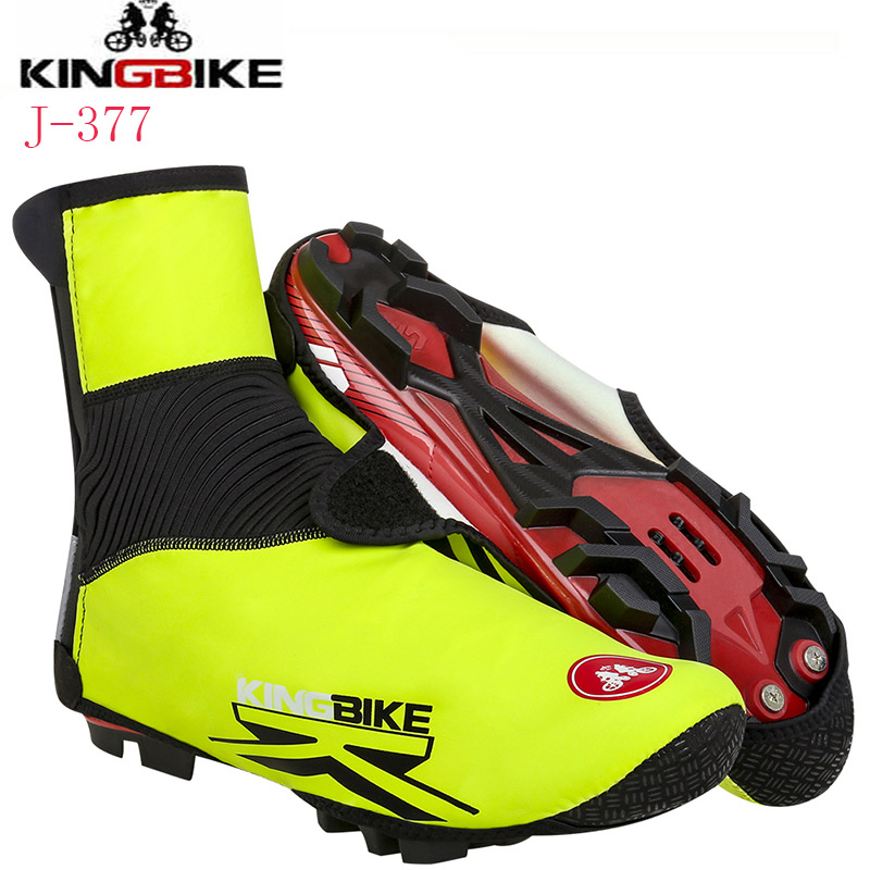 KINGBIKE Brand Cycling Shoe Cover Reflective MTB Bicycle Overshoes Winter Thermal Fleece Road Racing Bike Shoes Cover Copriscarp