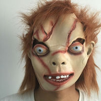 Horror Bride Of Chucky Latex Mask Full Face Halloween Film Theme Scary Female Male Rubber Masks