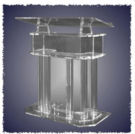 Clear Acrylic Church Pulpit Podiums /Rostrum/PMMA Pulpit acrylic reception display  podium lectern clear acrylic a3a4a5a6 sign display paper card label advertising holders horizontal t stands by magnet sucked on desktop 2pcs