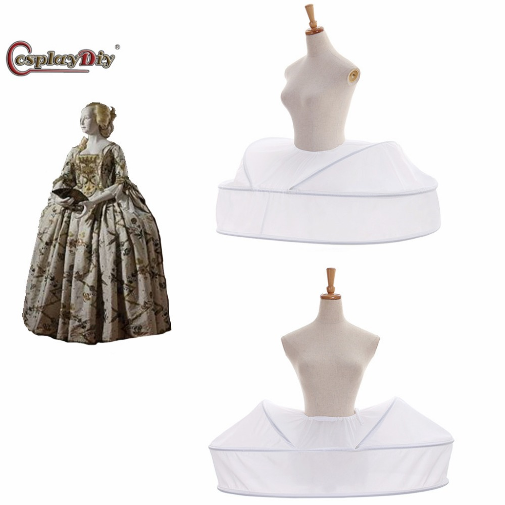 CosplayDiy Rococo Dress Petticoat Vantage Underskirt Women Medieval Crinoline Skirt Victorian Cage Dress Cosplay Accessories JT