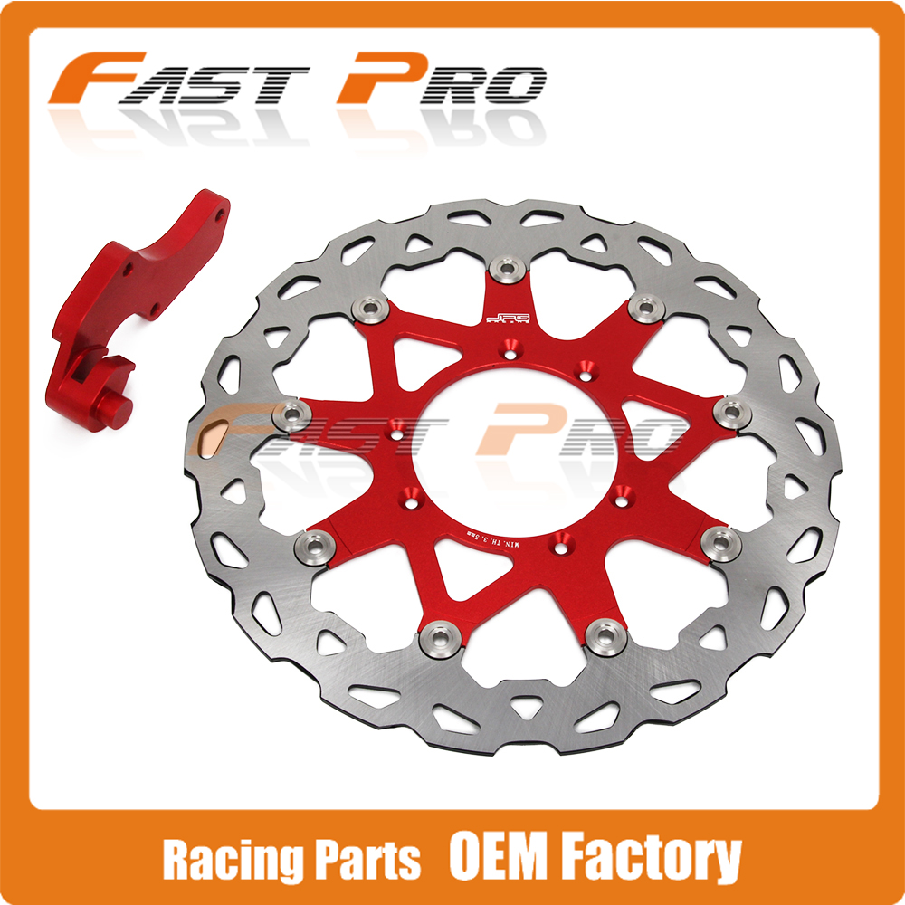 320 Floating Brake Disc + Bracket CR CRF CR125 CR250 CRF250R CRF250X CRF450X CRF450R Supermoto Motard cnc for honda crf 250 450 r crf250x crf 450r 450x xr230 motard motorcycle brake clutch lever pivot lever crf450r crf250r crf450x