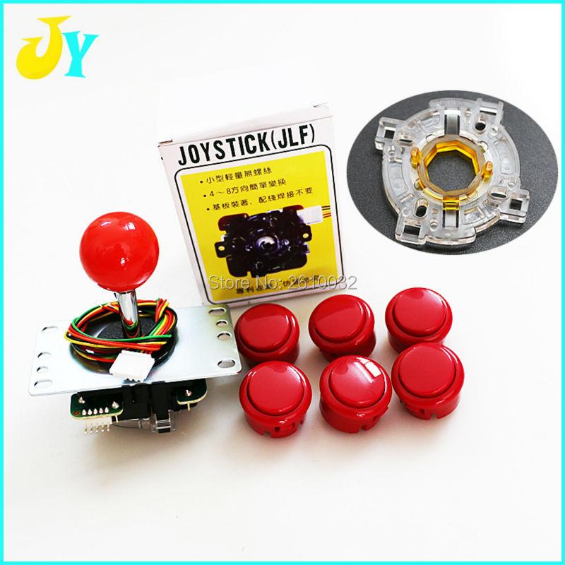 Original Sanwa Joystick JLF TP 8YT with 6 OBSF 30 Buttons 1 GT Y Octogonal Gate
