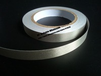 1x 18mm 20 Meters Silver Plain Sticky Conductive Fabric Tape For Laptop LCD OPP Mobile Phone