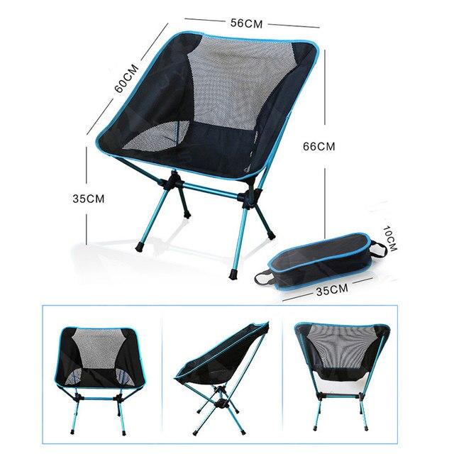 Chaise de Camping se pliante extérieure de chaise de pêche avec la résistance à leau dalliage daluminium du tissu 600D Oxford pour le voyage de plage de pique-nique