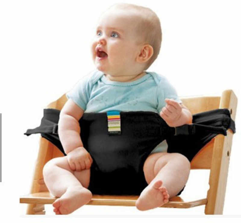 เก้าอี้ทานอาหารเด็กความปลอดภัยเข็มขัดแบบพกพาที่นั่งอาหารกลางวันเก้าอี้ยืดเก้าอี้ให้อาหารสายรัดเด็ก Booster ที่นั่ง