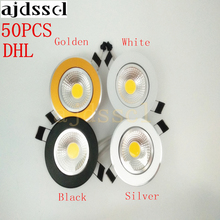 50pcs/lot Super Bright Dimmable Led downlight light COB Ceiling Spot Light 3w 5w 7w 12w  ceiling recessed Lights Indoor Lighting