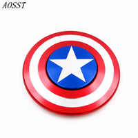 AOSST POP High Quality Metal Captain America Shield Fidget Spinner Hand Spinner Finger Spinner Stress