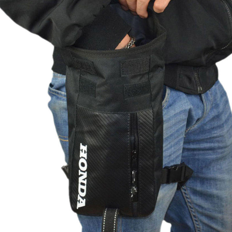 Image 2 - Men's Waterproof Oxford Drop Waist Leg Bag Thigh Hip Bum Belt Motorcycle Military Travel Cell/Mobile Phone Purse Fanny Pack-in Waist Packs from Luggage & Bags