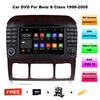 Quad Core Android 5 1 1 HD 1024x600 Car DVD GPS Stereo For Mercedes Benz S