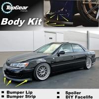 Bumper Lip Deflector Lips For Lexus ES 300 350 240 250 330 300h For TOYOTA Windom Vista Front Spoiler Skirt / Body Kit / Strip