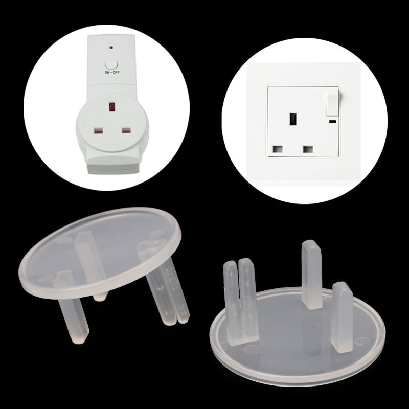 10 Pcs UK Power Socket Cover Plugs Baby Electric Sockets Outlet Plug Kids Electrical Safety Protector Sockets Protection New