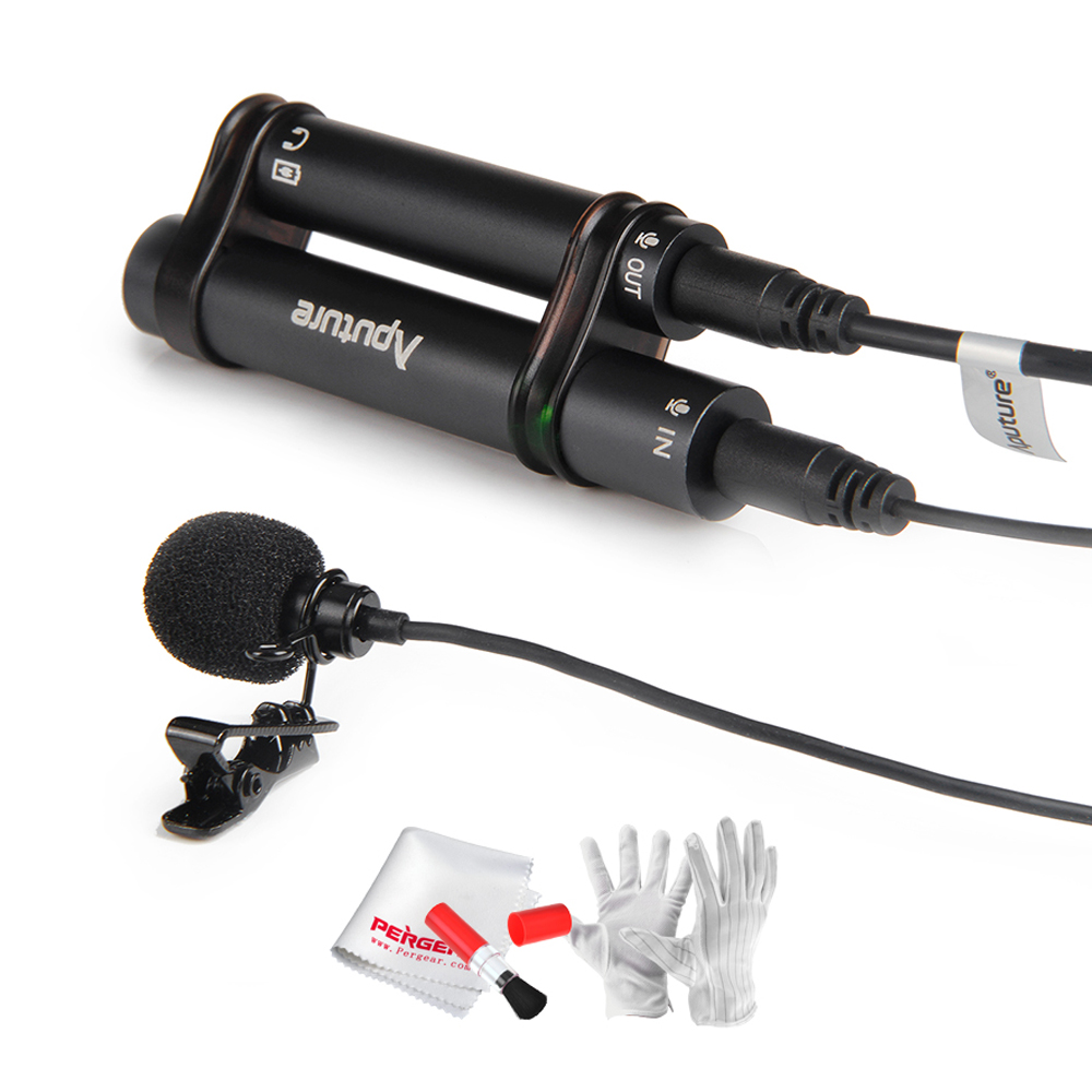Aputure A.lav Lavalier Microphone Professional Omnidirectional Lavalie Condenser Mic for Mobile Phone Pad Recorder + Gift Kit