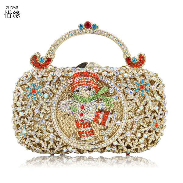 XIYUAN BRAND gold Crystal diamond Clutch Evening Bag For Women Metal Floral day Clutches Wedding Party Flower Handbag Purse genuine projector bare lamp 610 347 5158 poa lmp137 for sanyo plc xm100 plc xm100l plc xm5000 plc xm80l plc xw4500l projectors