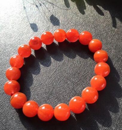 10-10.5mm naturel rouge sud rouge AgateChina gemmes cristal perles rondes Bracelet10-10.5mm naturel rouge sud rouge AgateChina gemmes cristal perles rondes Bracelet