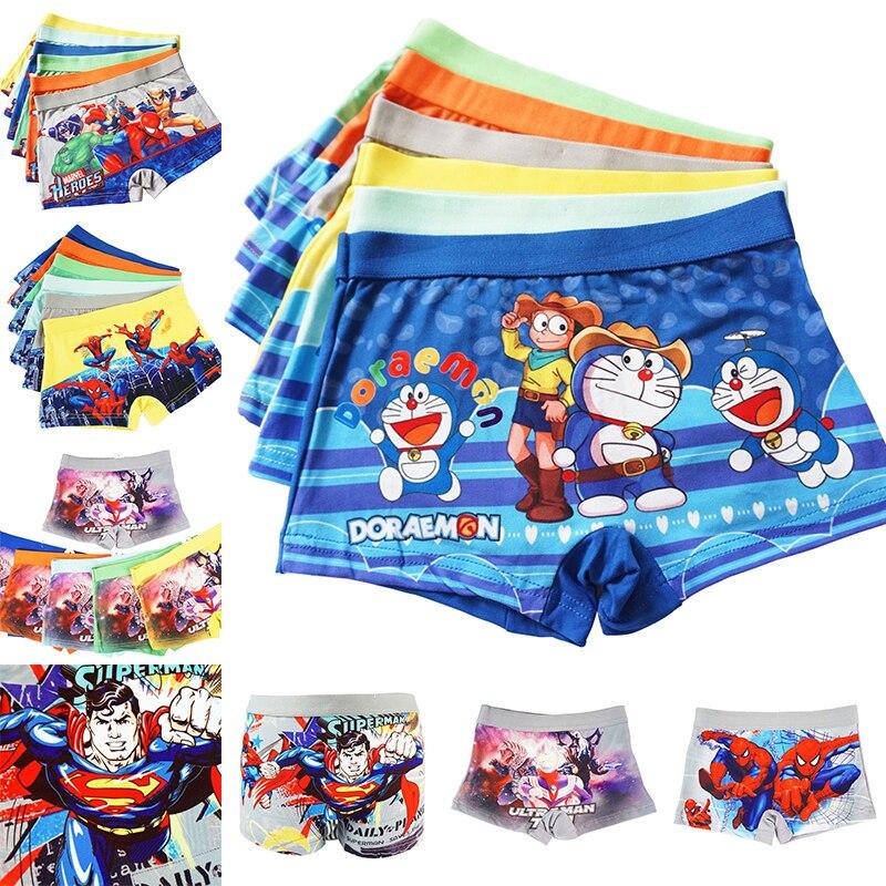 12 Pcs/Lot Boy'S 3-8Y Kids Boxer Shorts Soft Baby Boys Underpants Cotton Panties For Children Cartoon Doraemon Underwear
