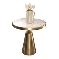 Дизайнерский мраморный боковой стол квартира Простая Современная гостиная диван угловой балкон Маленький журнальный столик круглый стол