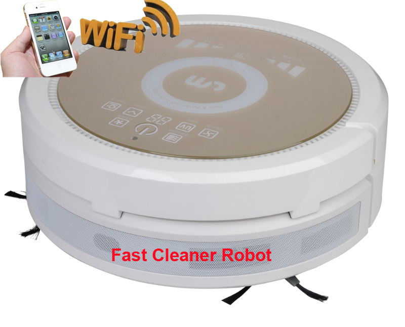 3350MAh Lithium Battery Robot vacuum Cleaner With Newest Smartphone WIFI APP Control, Air Purifier Function,Wet and Dry Cleaning