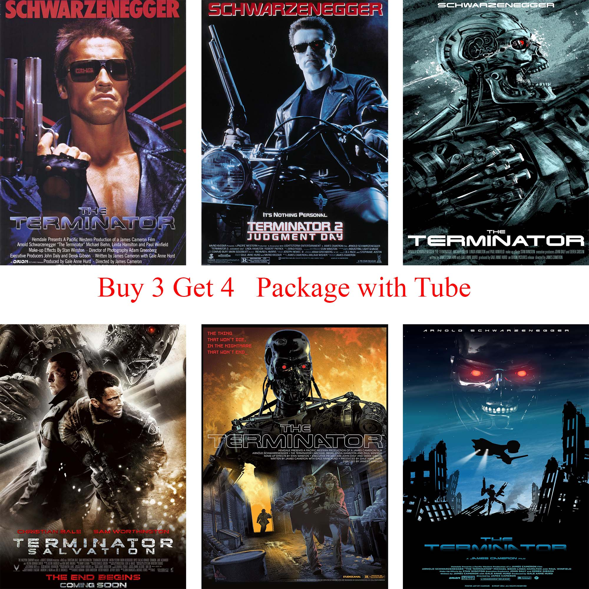 The Terminator Posters White Coated Paper Prints Wall Stickers Home Decoration for Livingroom Bderoom Home Art Brand