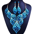 New Arrival African Beads Jewelry Sets Wedding Dress Accessories Gold Plated Necklace Earring Set For Brides Women Jewelry 2016