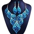 Nueva Llegada Perlas Africanas Sistemas de la Joyería de Accesorios Del Vestido de Boda de Oro Pendiente Del Collar Fijado Para Las Novias Joyería de Las Mujeres 2016