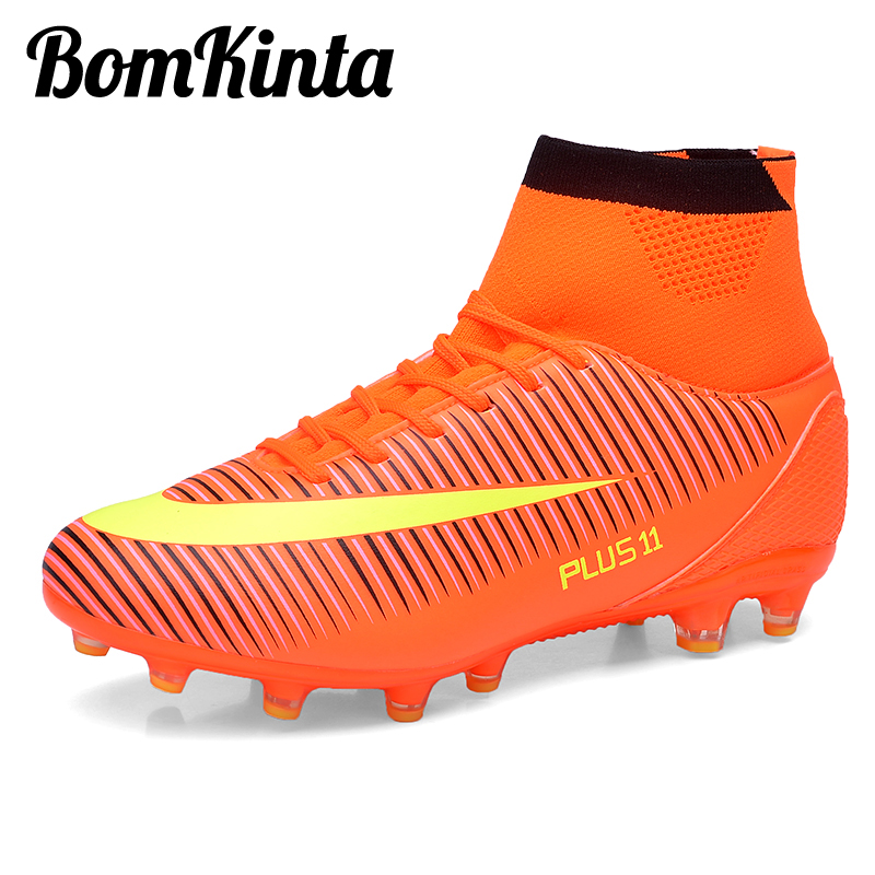 7cc5ed55ff8 BomKinta New Arrival Soccer Shoes for Men High Top Football Boot Long Spikes  Trainers Futsal Boot Original Sock Sneakers Size 46-in Soccer Shoes from  Sports ...