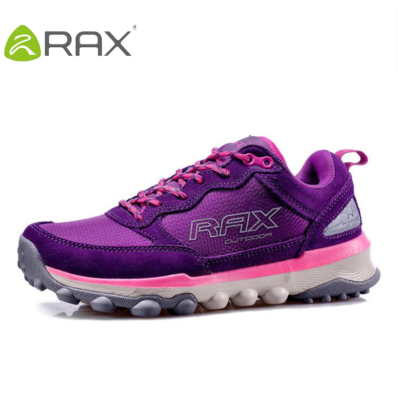 Rax Women Hiking Shoes Non Slip Original Outdoor Sneaker Genuine Leather Sport Trekking Shoes For Women Camping Climbing Shoes mulinsen brand new autumn men sports hiking genuine leather shoes sport shoes wear non slip outdoor sneaker 270116