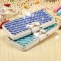 Kisscase para samsung s7 s6 edge plus menina bolsa glitter diamante fique wallet case para galaxy s5 note 5 cristal arco-nó capa